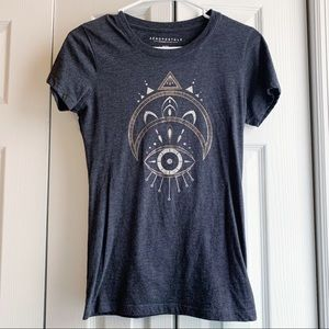 Aero Soft, Grey T with Eye and Moon
